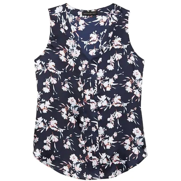 Banana Republic Tops - NWT Banana Republic Floral Sleeveless V-Neck Top